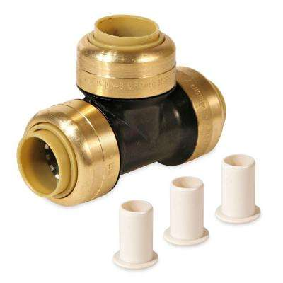 1 in. x 1 in. x 1/2 in. Polysulfone CTS Glueless Quick Connect Reducer Tee Push for PEX CPVC Copper