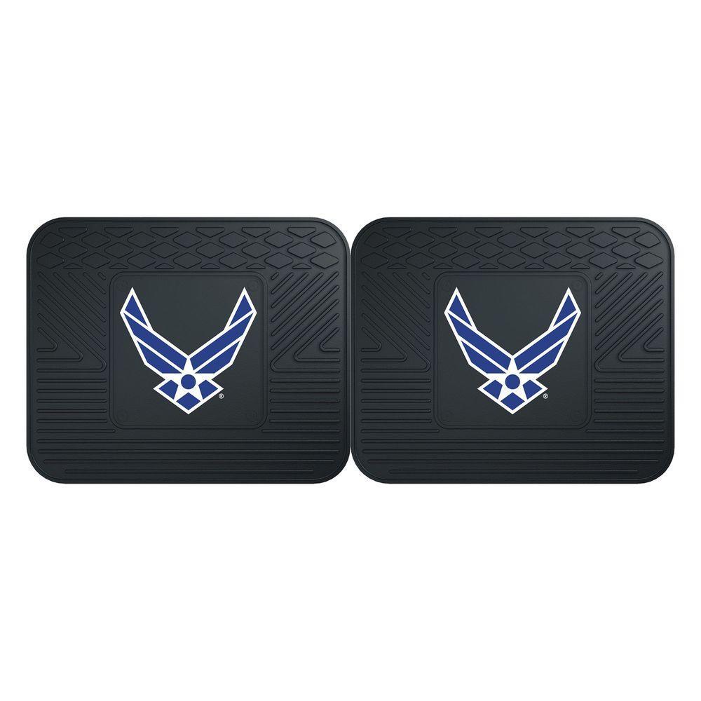 Air Force Black Heavy Duty 14 in. x 17 in. 2-Piece Vinyl Utility Mat