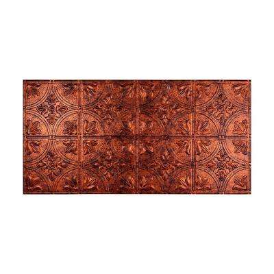 Traditional 2 - 2 ft. x 4 ft. Glue-up Ceiling Tile in Moonstone Copper