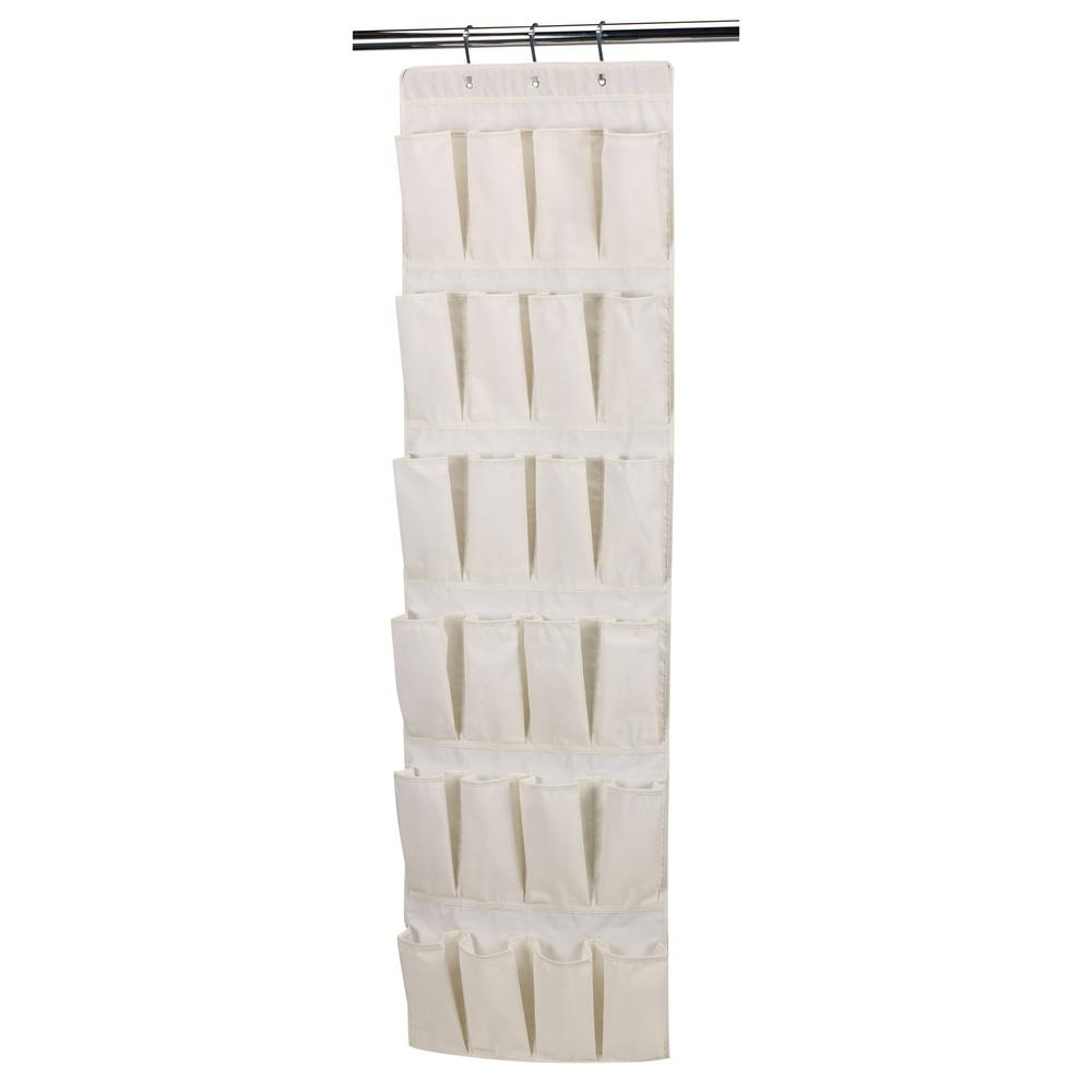 26409d675d861 Household Essentials. 24-Pocket Over the Door Shoe Organizer in Natural  Canvas