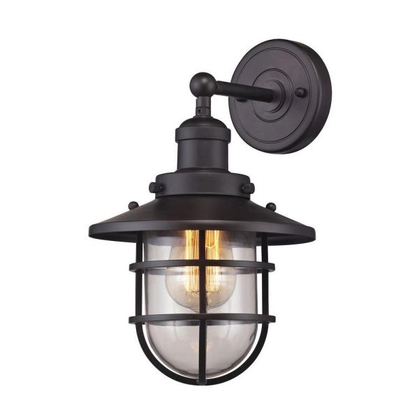 Seaport 1-Light Oil-Rubbed Bronze Sconce