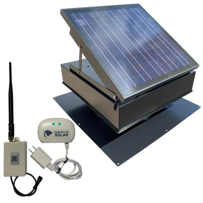 1875 CFM Powder Coated Galvanized Steel Hybrid (Solar/Electric) Powered Attic Fan with Wildlife Guard