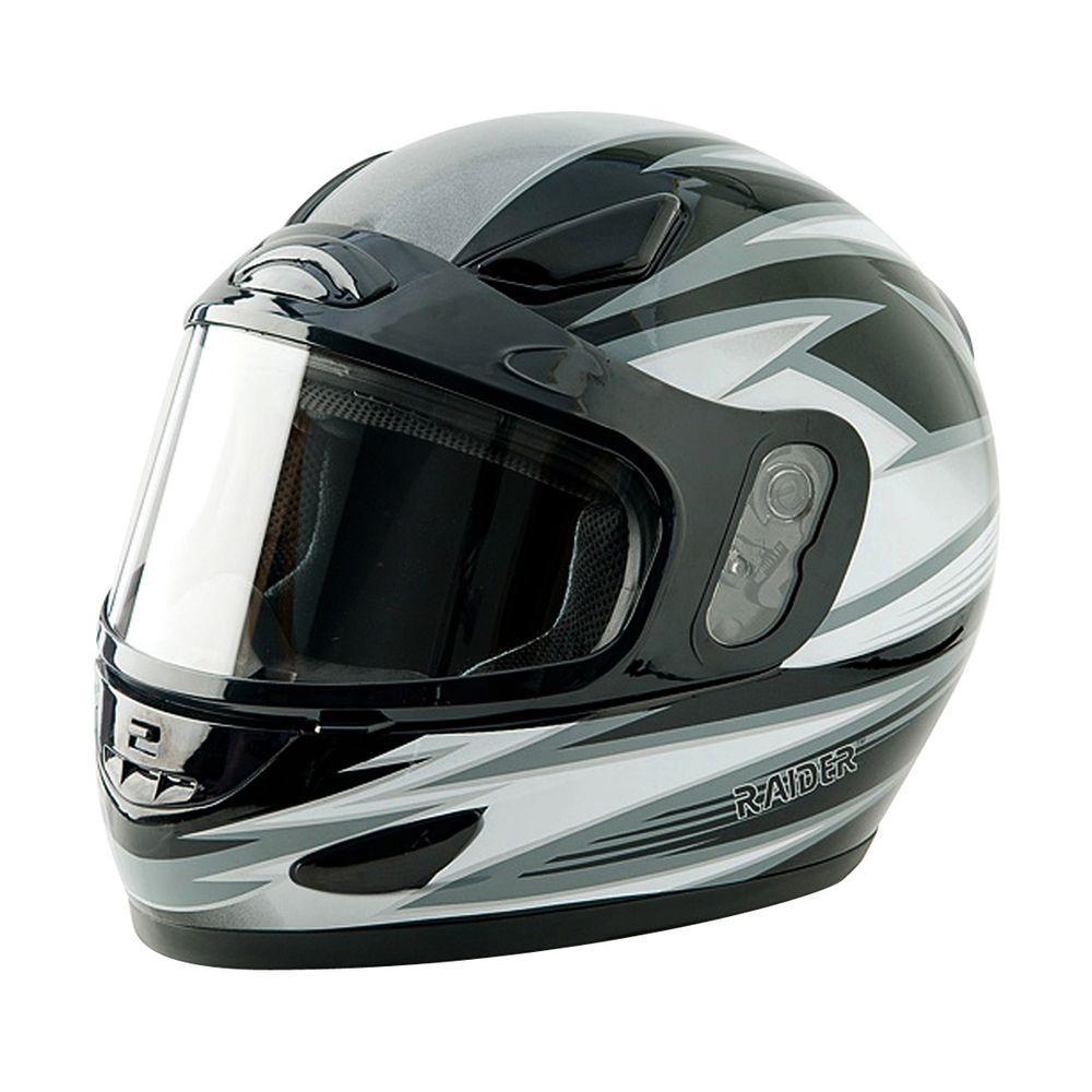 Raider Small Adult Silver Full Face Snow Helmet