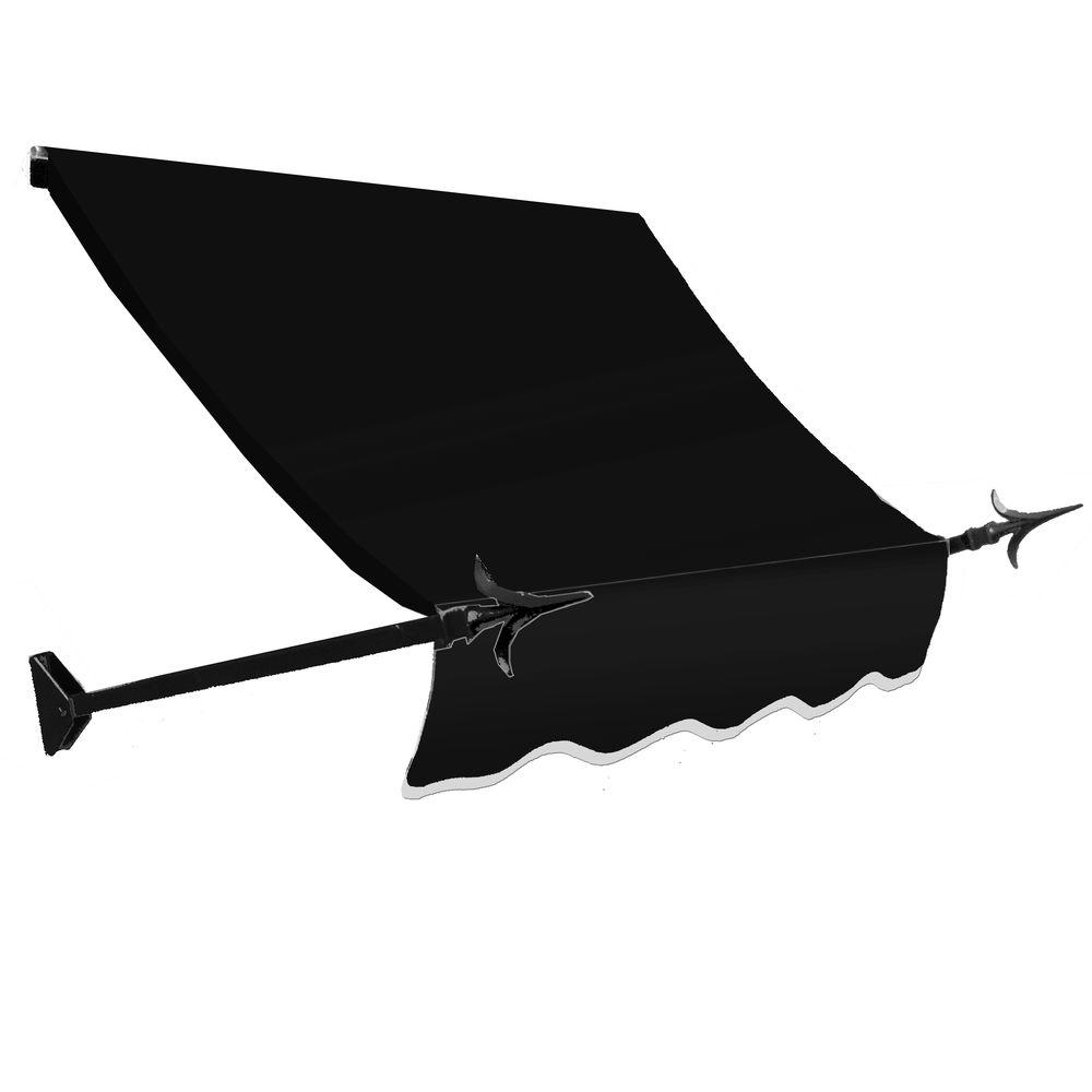 AWNTECH 3 ft. New Orleans Awning (44 in. H x 24 in. D) in Black