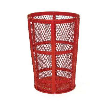 45 Gal. Red Round Street Trash Can