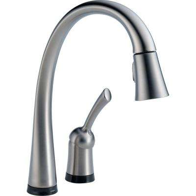 Pilar Single-Handle Pull-Down Sprayer Kitchen Faucet with Touch2O Technology and MagnaTite Docking in Arctic Stainless