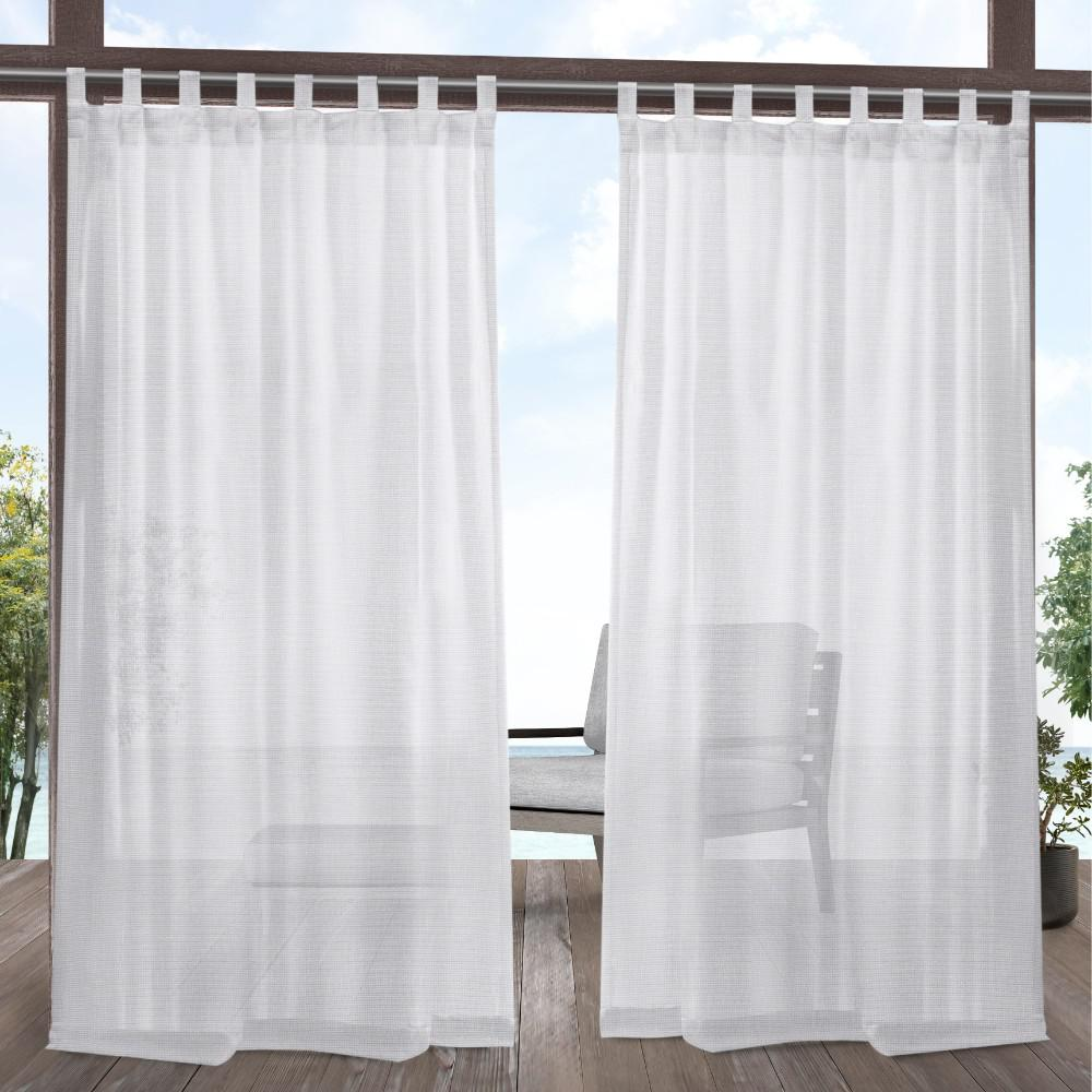 window treatments miami exclusive home curtains miami white sheer indooroutdoor tab top curtain 54 in