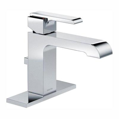 Ara Single Hole Single-Handle Bathroom Faucet with Metal Drain Assembly in Chrome