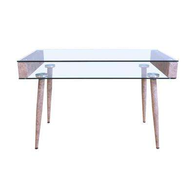 Boyd Gray and Clear Glass Top Console Table