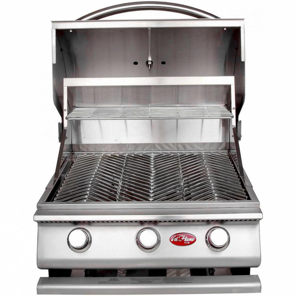 Cal Flame Gourmet Series 3-Burner Built-In Stainless Steel Propane Gas Grill