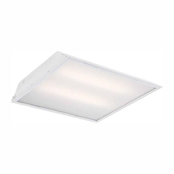 2 ft. x 2 ft. 96-Watt Equivalent Prismatic Lens Integrated LED Commercial Grid Ceiling Troffer