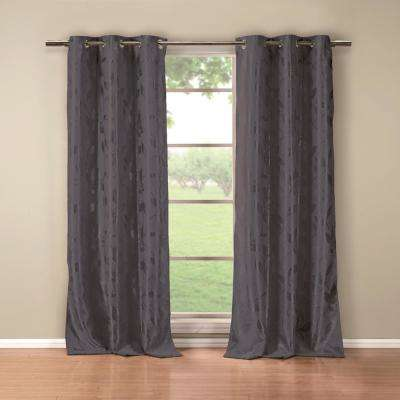Blair 36 in. x 84 in. L Polyester Blackout Curtain Panel in Blue (2-Pack)