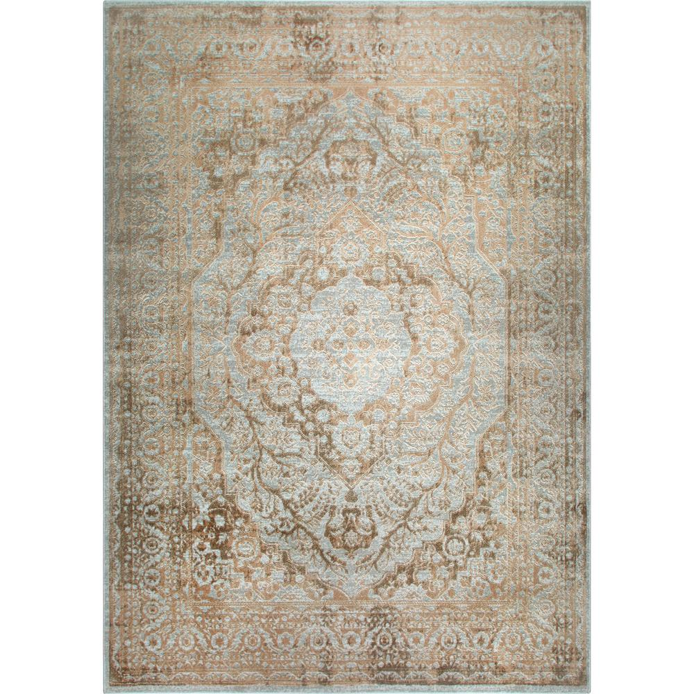 Swell Nicole Miller Kenmare Gray Yellow 5 Ft X 7 Ft Indoor Area Rug Complete Home Design Collection Barbaintelli Responsecom