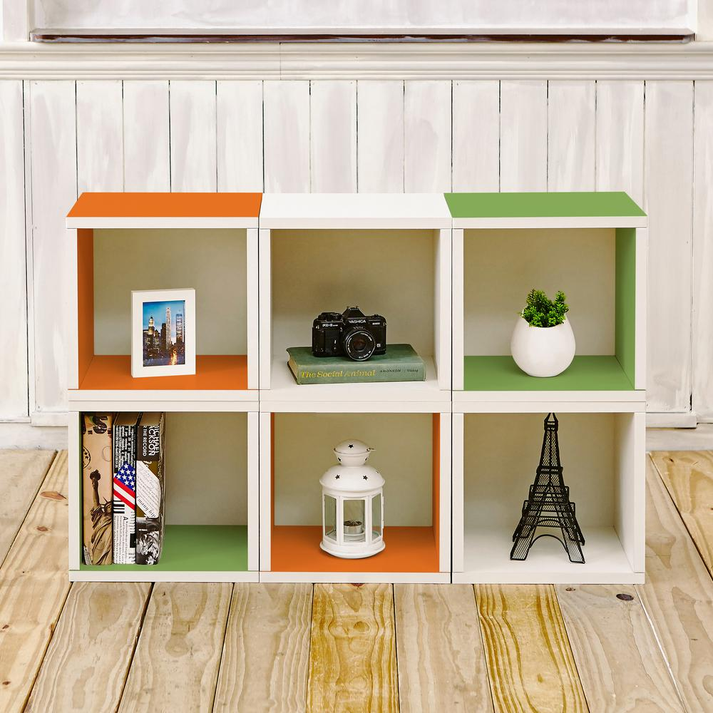 Barcelona 6 Cubes zBoard Stackable Modular Storage Cubby Organizer, Tool-Free