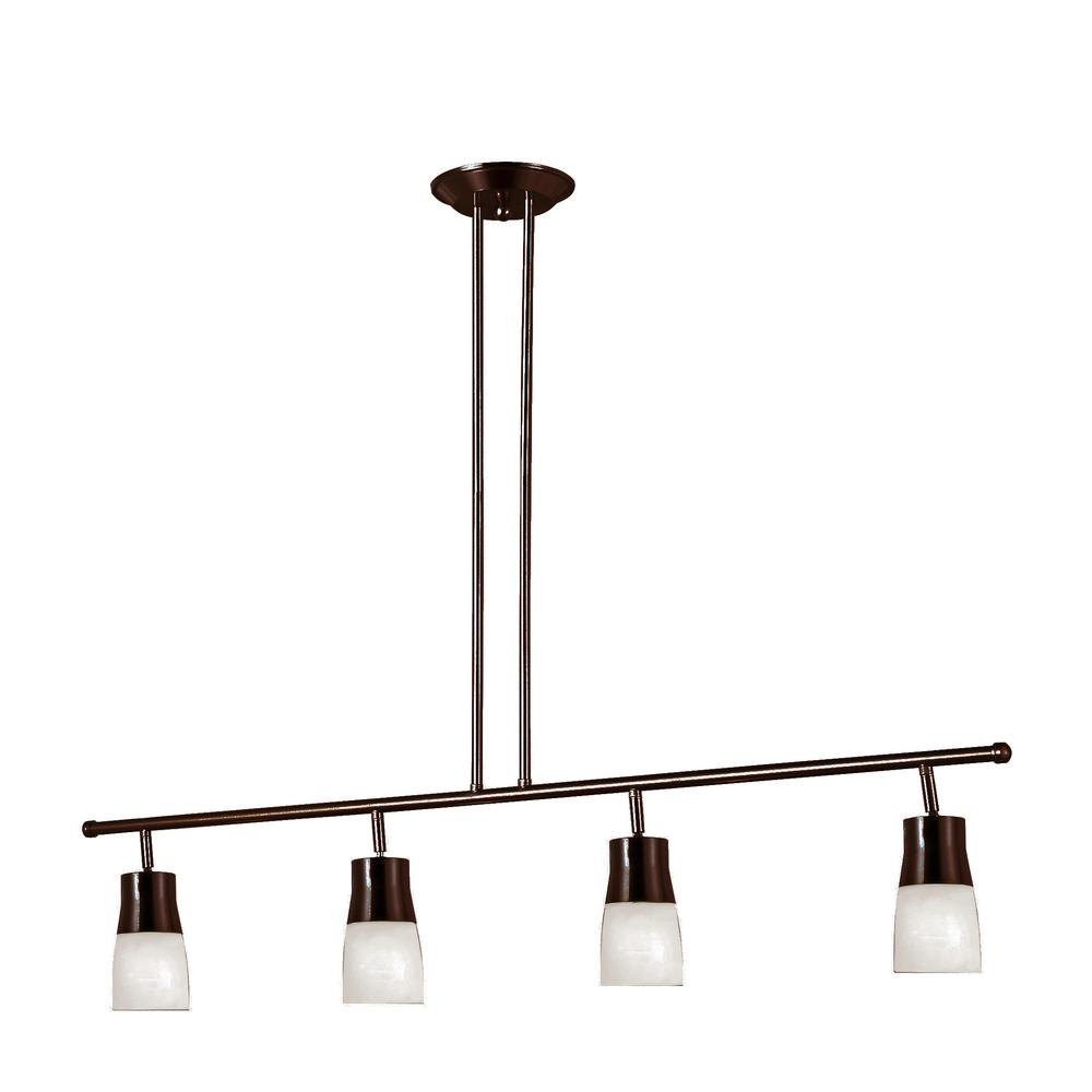 Sliva 3.75 ft. 4-Light Rubbed Oil Bronze Track Lighting Kit with