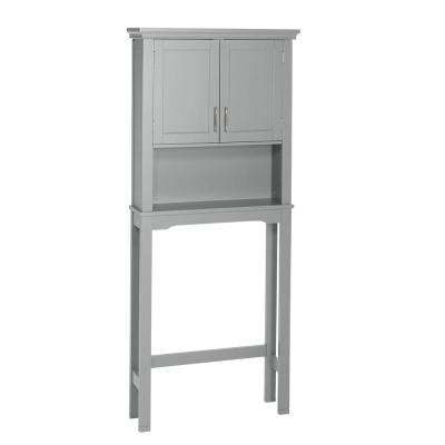 Somerset 27.3 in. W x 64.2 in. H x 7.87 in. D 2-Door Space Saver in Gray