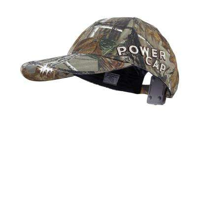 POWERCAP LED Hat EXP 100 Ultra-Bright Hands Free Lighted Battery Powered Real tree Xtra