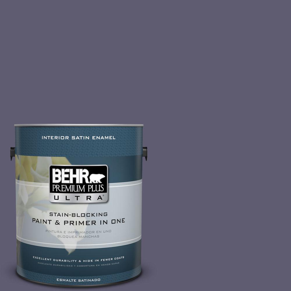 1 gal. #PMD-90 Luscious Purple Satin Enamel Interior Paint and Primer