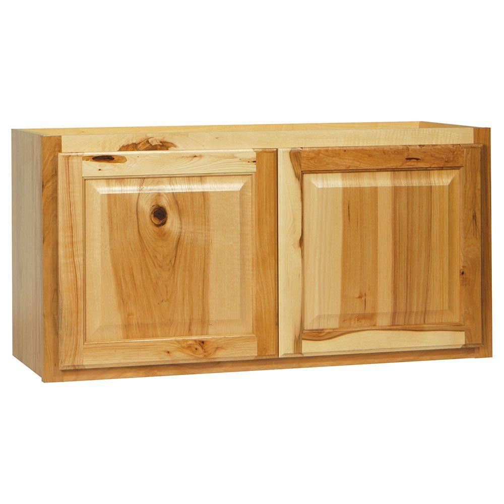 Hampton bay hampton assembled 36x18x12 in wall bridge for Kitchen cabinets 36 x 18