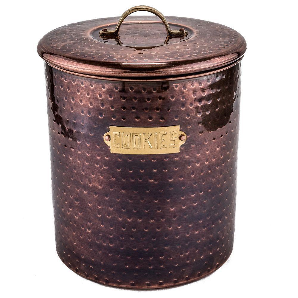 Hammered Antique Copper Cookie Jar
