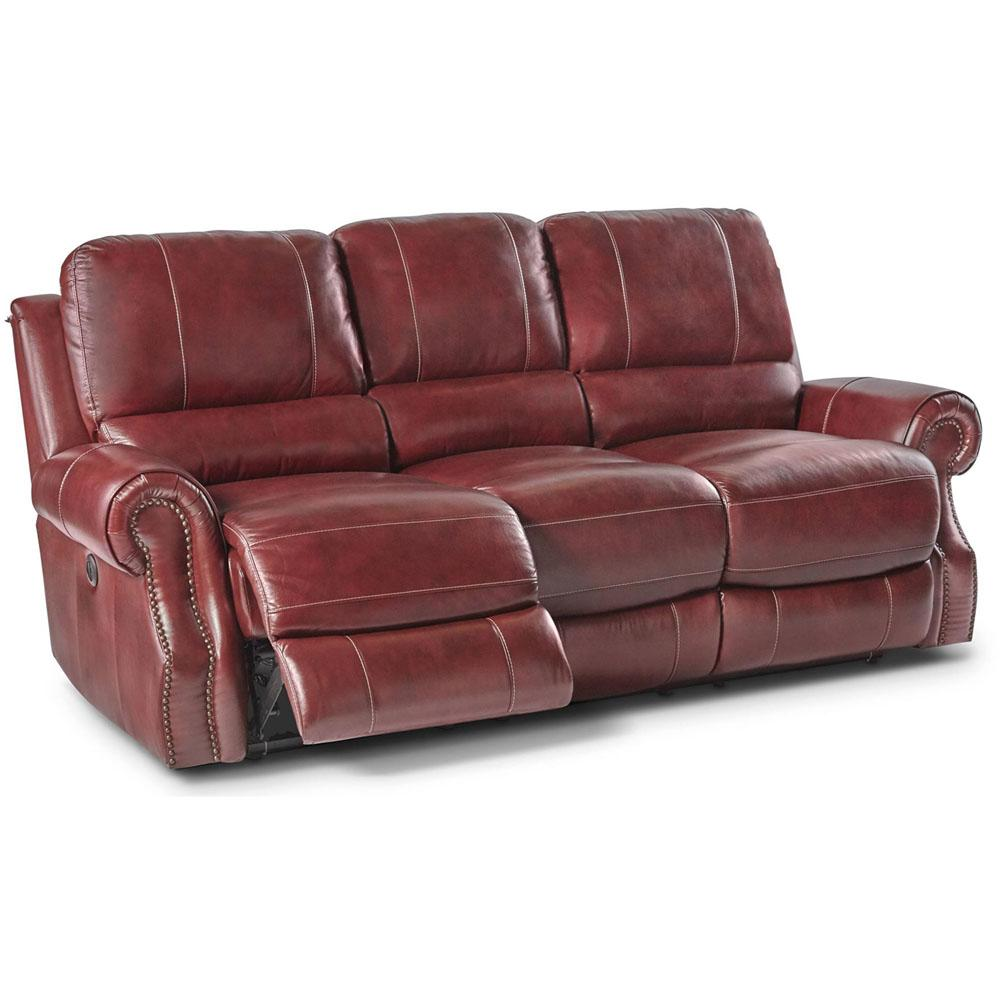 Gentil Cambridge Rustic Wine Double Reclining Sofa