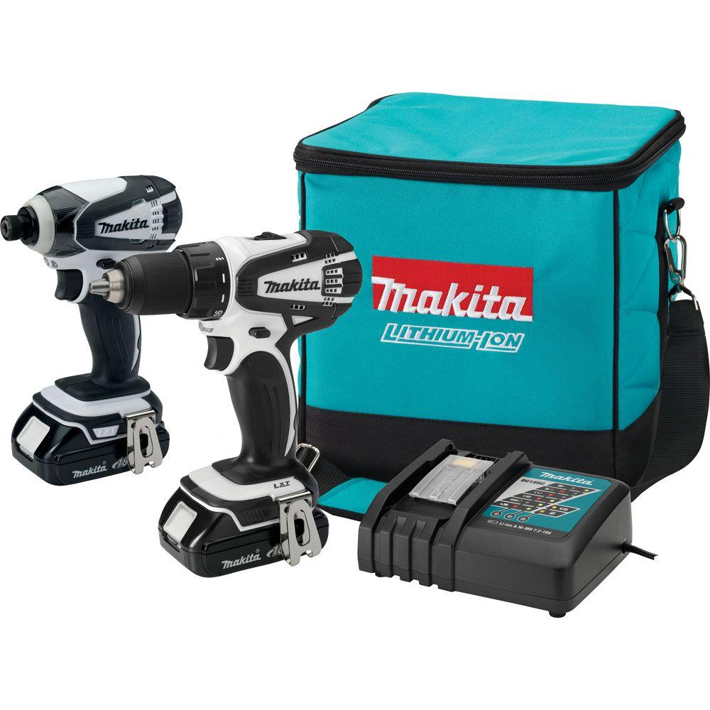 makita 18 volt lithium ion compact combo kit 2 tool. Black Bedroom Furniture Sets. Home Design Ideas