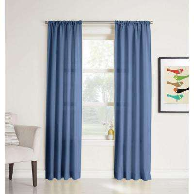 No. 918 Millenial Ryan Heathered Texture Sheer Curtain Panel