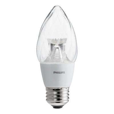 60-Watt Equivalent F15 Dimmable LED Post Light Star Soft White Clear with warm Glow Light Effect