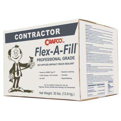 Flex-A-Fill 30 lb. Box Black Pavement Crack Repair Sealant