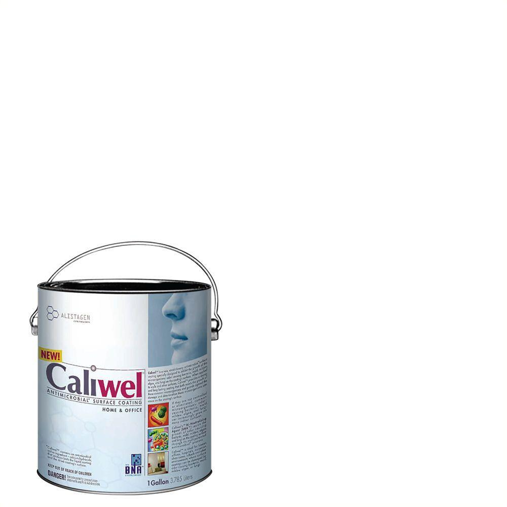 Caliwel Home & Office 1 gal. Guardian White Latex Premium Antimicrobial and Anti-Mold Interior Paint