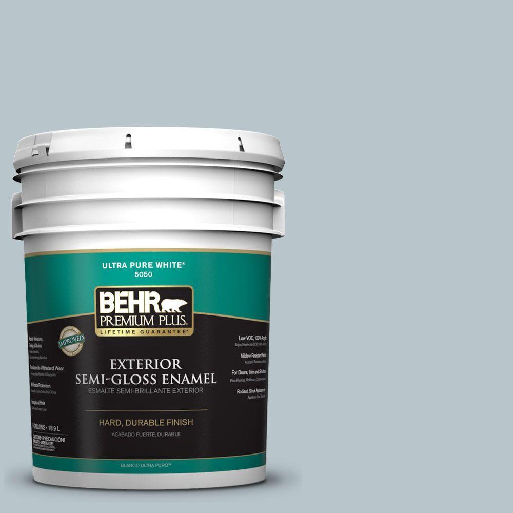 5-gal. #ICC-46 Soft Denim Semi-Gloss Enamel Exterior Paint