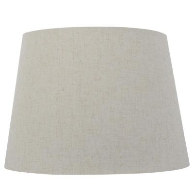 Mix and Match 14 in. Dia x 10 in. H Oatmeal Round Table Lamp Shade