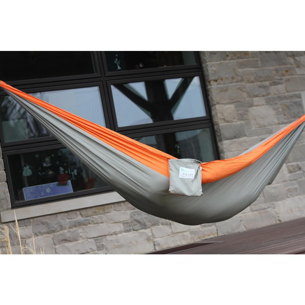 10 ft. Parachute Double Hammock in Grey/Orange