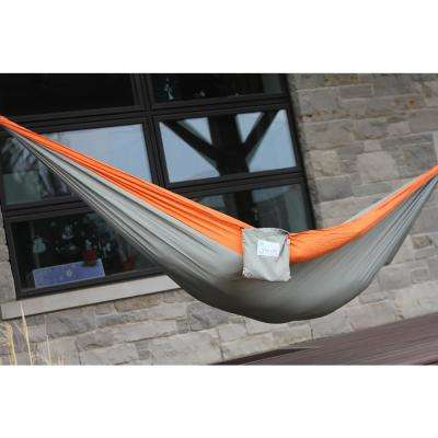 10 ft. Parachute Double Hammock in Grey/Orange