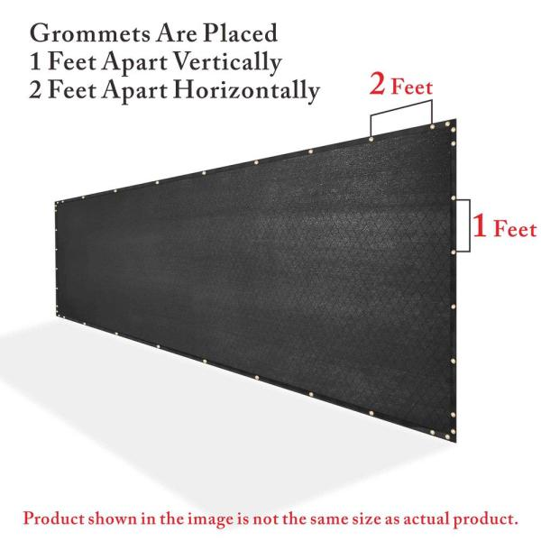 Colourtree 4 Ft X 82 Ft Black Privacy Fence Screen Hdpe Mesh Windscreen With Reinforced Grommets For Garden Fence Custom Size 4x82fs 2 The Home Depot