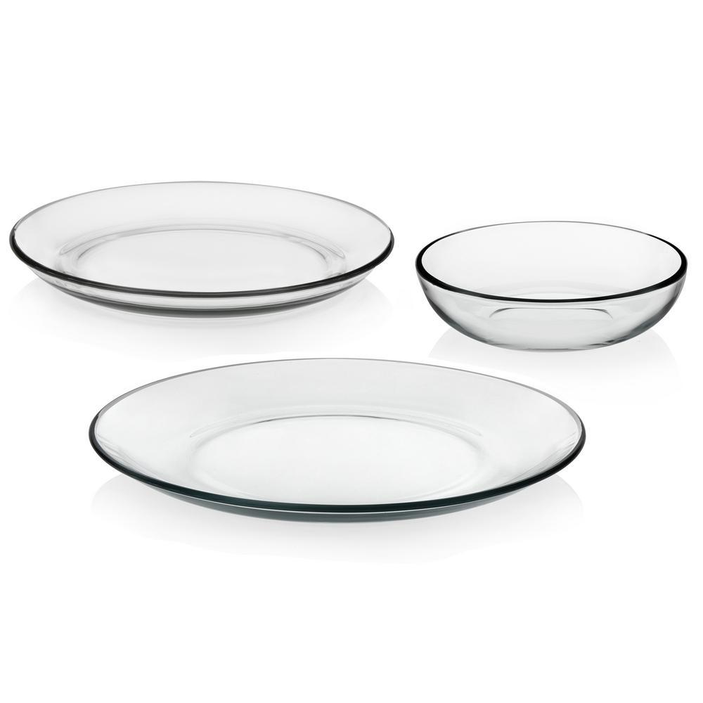 Libbey Coupe 12-piece Glass Dinnerware Set