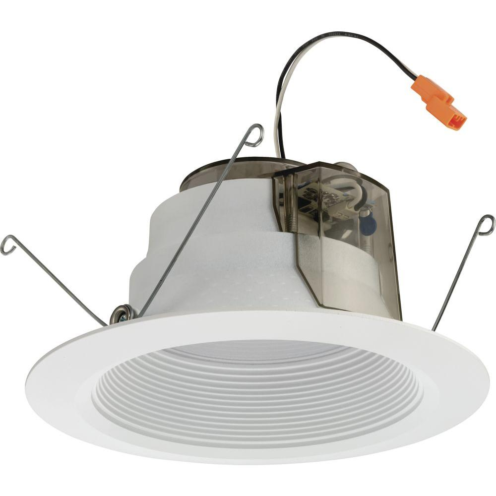 Lithonia Lighting 6 in. Matte White Recessed Baffle LED Module for New Construction
