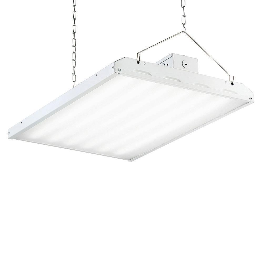 160-Watt 2 ft. White Integrated LED Backlit High Bay Hanging Light with 19000 Lumen 5000K (24-Pack)