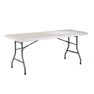 30 in. Gray Plastic Folding Banquet Table