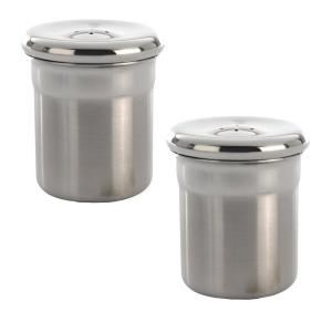 Essentials Stainless Steel Salt and Pepper Shakers Set