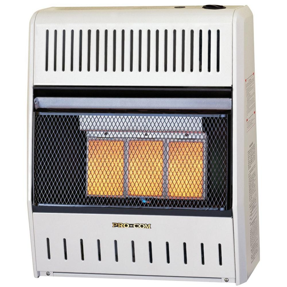 Wall Heater 18000 BTU Infrared Vent Free Natural Gas Radiant Surface Mounted