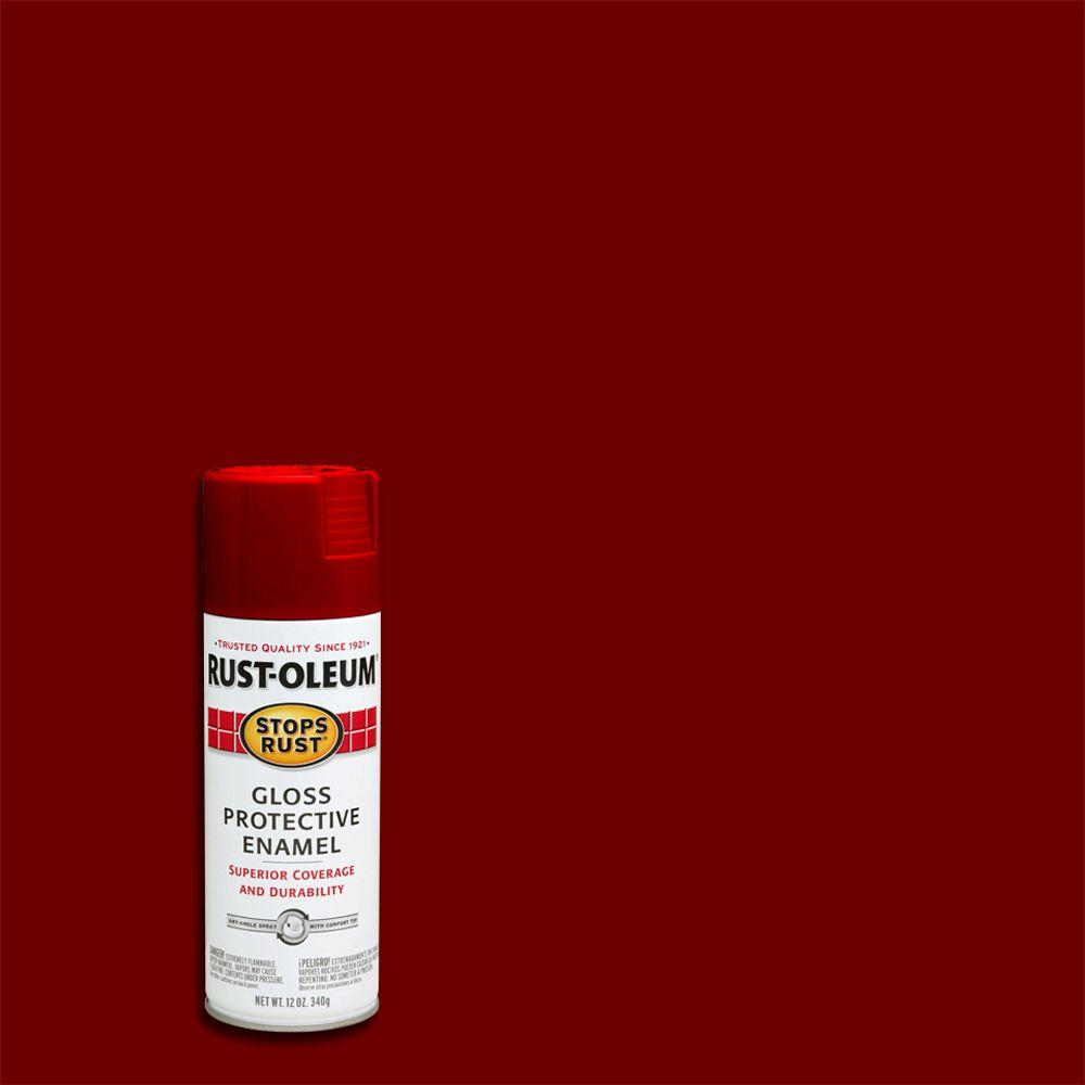 Protective Enamel Gloss Sunrise Red Spray Paint
