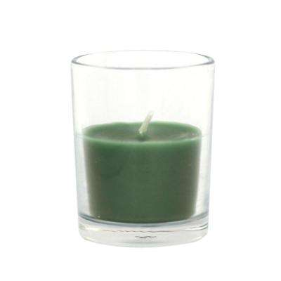 2 in. Hunter Green Round Glass Votive Candles (12-Box)