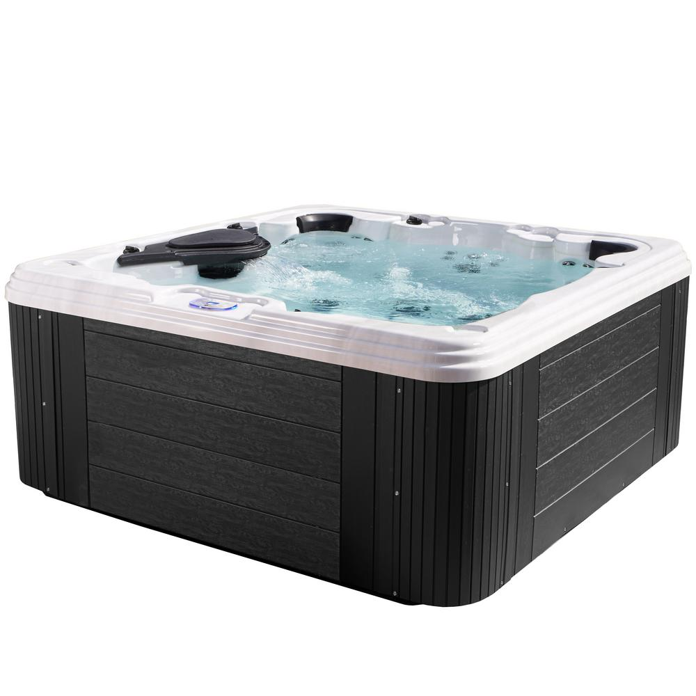 Providence 7-Person 60-Jet Standard Hot Tub in Gray
