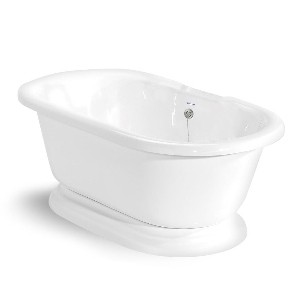 American Bath Factory 60 In Acrastone Double Pedestal