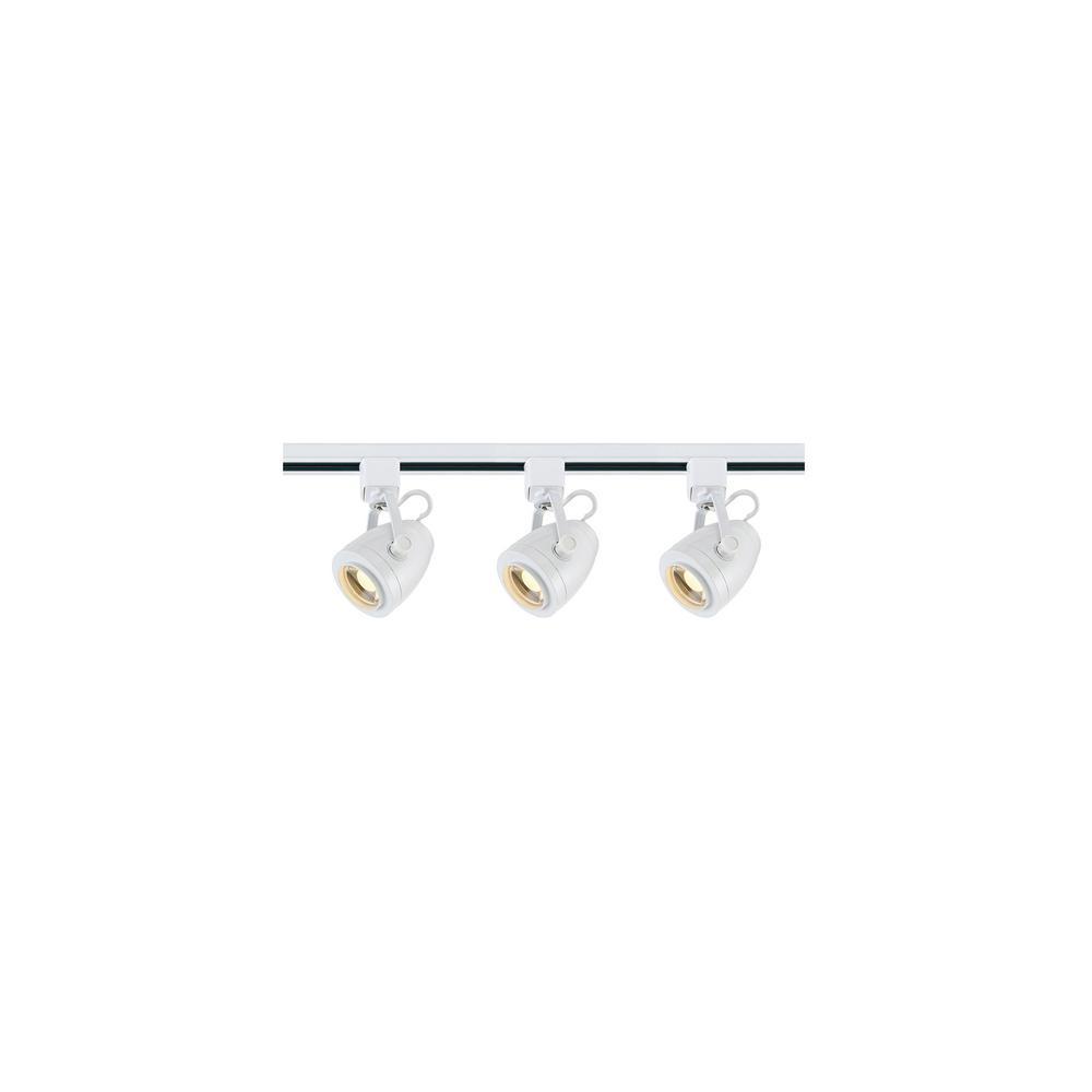 4 ft. White Integrated LED Track Lighting Kit