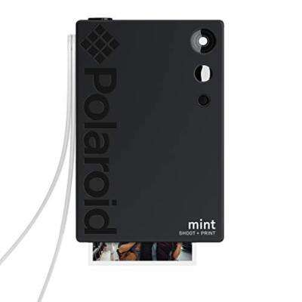 Mint Instant Print Digital Camera (Black), Prints on Zink 2x3 Sticky-Backed Photo Paper