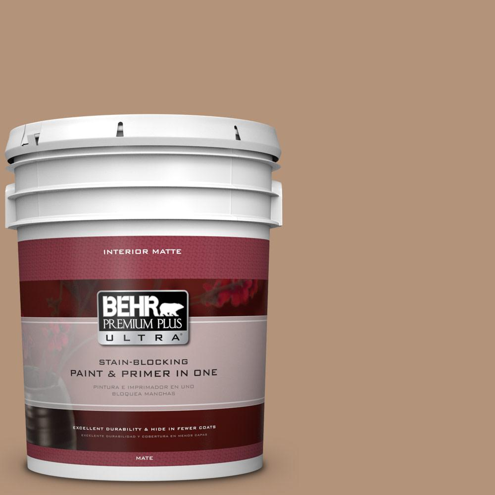 5 gal. #HDC-FL14-6 Gingerbread Latte Matte Interior Paint and Primer in
