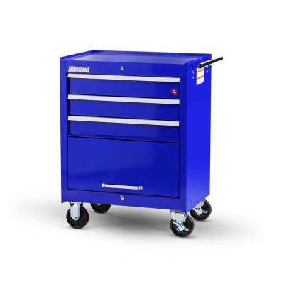 Workshop Series 27 in. 3-Drawer with 1-Door Roller Cabinet Tool Chest Blue