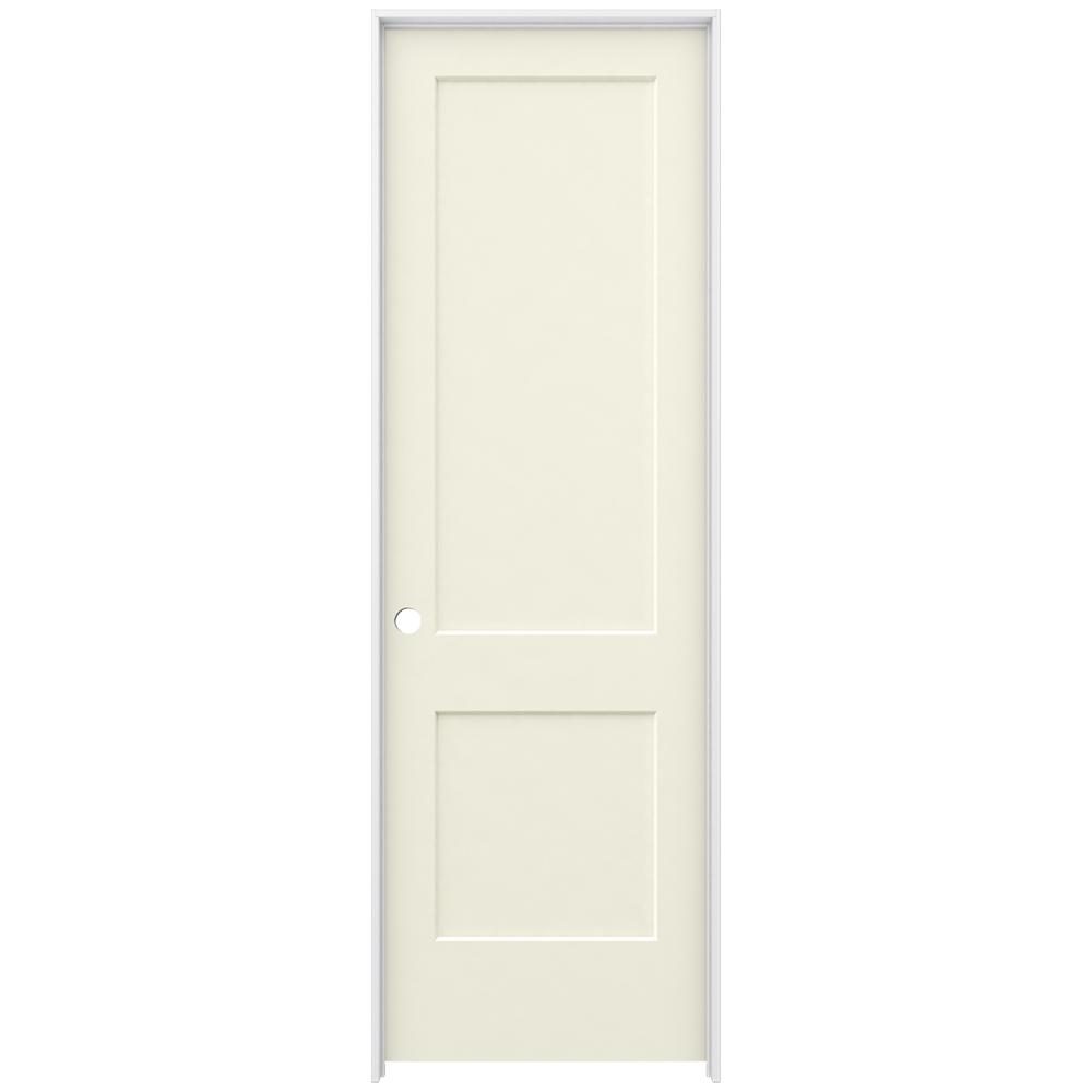 Jeld Wen 30 In X 96 In Monroe Vanilla Painted Right Hand Smooth Solid Core Molded Composite
